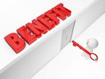 Um indivíduo 3D bonito alcança um benefício Foto de Stock Royalty Free