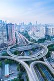 Um intercâmbio da estrada em guangzhou Imagens de Stock Royalty Free
