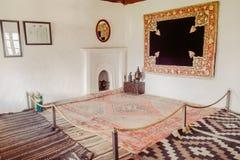 Um interior da sala dentro do forte de Baltit Karimabad, vale de Hunza Gilgit baltistan, Paquistão fotos de stock royalty free