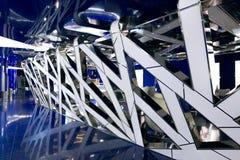 Um interior fantástico do futuro em cores de azul cinzento fotos de stock royalty free