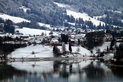 Um inverno em Switzerland Fotografia de Stock