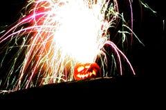 Um Jack'o explosivo latern Foto de Stock Royalty Free