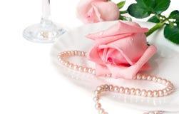 Um jantar romântico Fotos de Stock