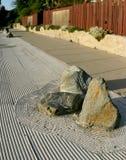 Um jardim da pedra do zen imagem de stock