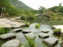 Um jardim japonês imagens de stock