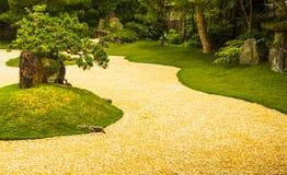 Um jardim japonês Fotos de Stock Royalty Free