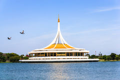Um jardim público bonito em Banguecoque, Tailândia. imagem de stock royalty free
