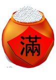 Um jarro de arroz Ilustração do Vetor