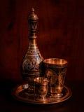 Um jarro e duas bacias Foto de Stock Royalty Free