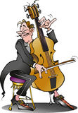 Um jogador clássico do violoncelo Fotos de Stock Royalty Free