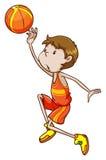 Um jogador de basquetebol Fotografia de Stock Royalty Free