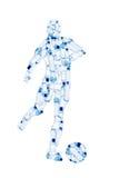 Um jogador de futebol com uma esfera Imagens de Stock Royalty Free