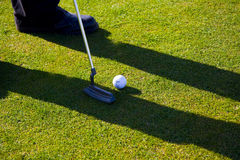 Um jogador de golfe Foto de Stock