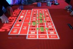 Um jogo clássico da roleta do casino Fotos de Stock Royalty Free