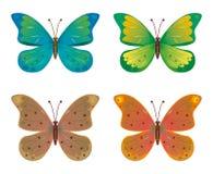 Um jogo das borboletas Imagens de Stock