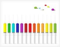 Um jogo das seringas A Fotografia de Stock Royalty Free