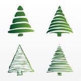 Um jogo de árvores de Natal do vetor Foto de Stock