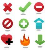 Um jogo de ícones modernos & à moda do vetor. Imagem de Stock Royalty Free