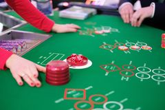 Um jogo de excrementos do casino do clássico Imagens de Stock