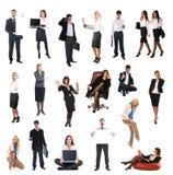 Um jogo de executivos diferentes fotografia de stock