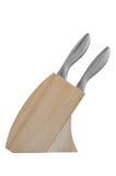 Um jogo de facas de cozinha Imagens de Stock