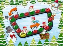 Um jogo de mesa do Natal Fotografia de Stock