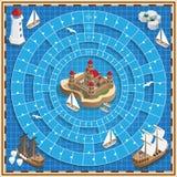 Um jogo de mesa no tema marinho ilustração royalty free