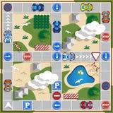 Um jogo de mesa sobre a viagem Imagens de Stock Royalty Free