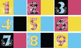 Um jogo de moldes do cartão Imagens de Stock Royalty Free