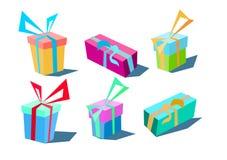Um jogo de presentes estilizados Fotografia de Stock Royalty Free