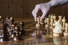 Um jogo de xadrez Fotos de Stock