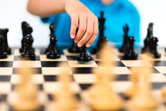 Um jogo de xadrez Foto de Stock Royalty Free