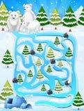 Um jogo do labirinto Fotografia de Stock Royalty Free