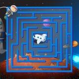 Um jogo do labirinto no outerspace Fotografia de Stock
