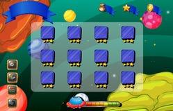 Um jogo no outerspace Fotografia de Stock
