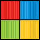 Um jogo quatro do colourfull 3D listrou o backgro do vetor Imagens de Stock