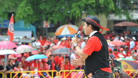 Reunião vermelha da camisa em Banguecoque Imagem de Stock Royalty Free