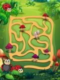Um labirinto Fotografia de Stock Royalty Free