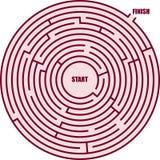 Um labirinto do círculo Fotografia de Stock Royalty Free