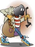 Um ladrão na ação Imagens de Stock Royalty Free