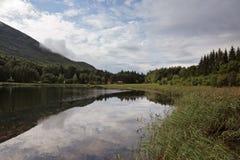 Um lago pequeno da montanha Imagens de Stock Royalty Free