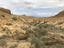 Um Landform típico de Yadan em Xinjiang foto de stock