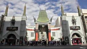 Um lapso de tempo do teatro chinês do TCL em Hollywood CA