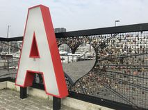 Um Liefdesmuur em Antuérpia Bélgica Fotografia de Stock Royalty Free