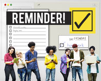 Um Listen-Zeit-Management-Anzeige zu tun geben Sie Konzeptes Stockfoto