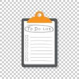 Um Listenikone mit der gezeichneten Hand zu tun simsen Sie Checkliste, Aufgabenliste vecto Stockfotos