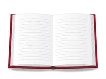 Um livro aberto Imagens de Stock