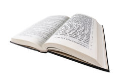 Um livro aberto. A Bíblia. Fim acima. Foto de Stock