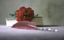um livro de novelas do amor imagens de stock royalty free