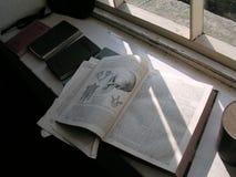 Um livro de texto velho foto de stock royalty free